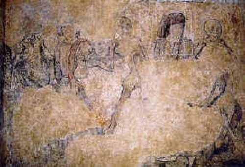 kernascleden eglise fresque gavotte1