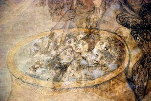kernascleden eglise fresque marmite