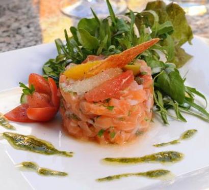 tartare de saumon vinaigrette agrume